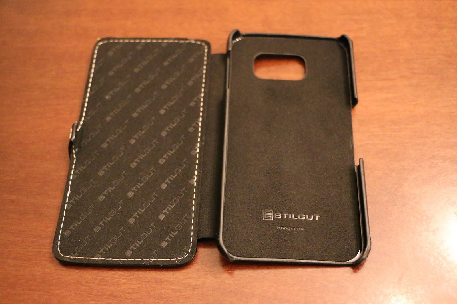 StilGut custodia Galaxy S6 modello Book Type nera chiusa