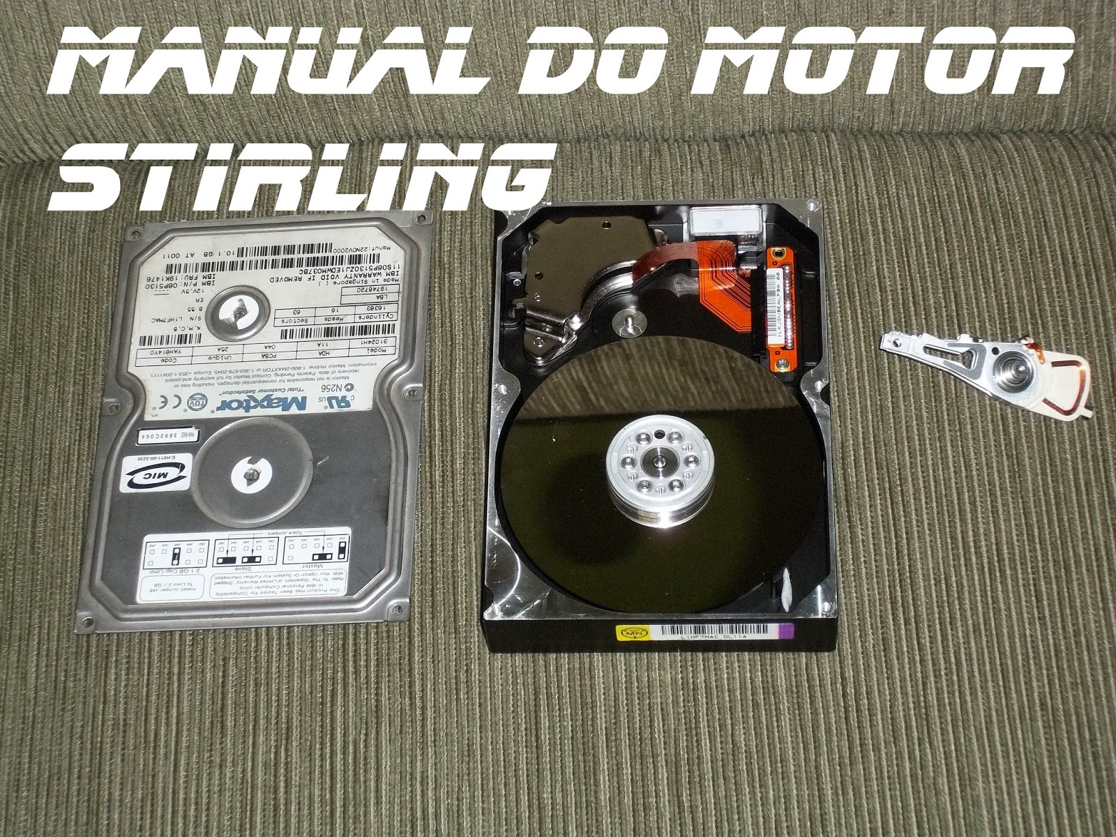 Disco rígido (HD), mas um braço leitor, Manual do motor Stirling