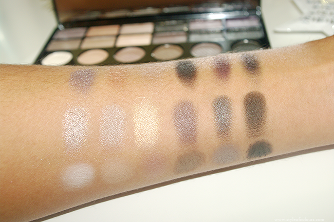 Makeup Revolution Salvation Palette Hard Day Swatches
