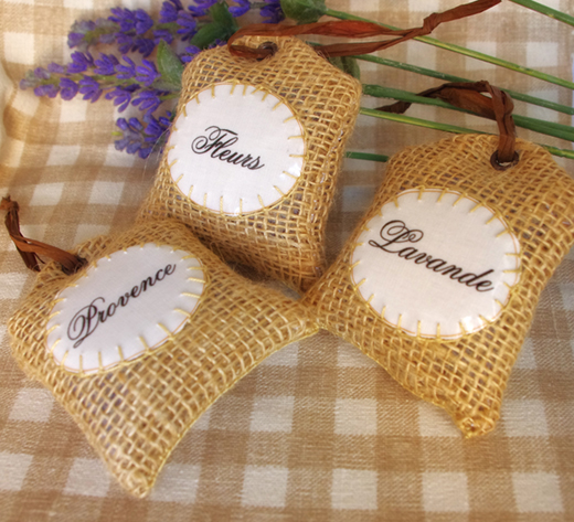 dried french lavender sachets pillow by Chez Violette