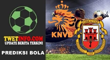 Prediksi Netherlands U19 vs Gibraltar U19
