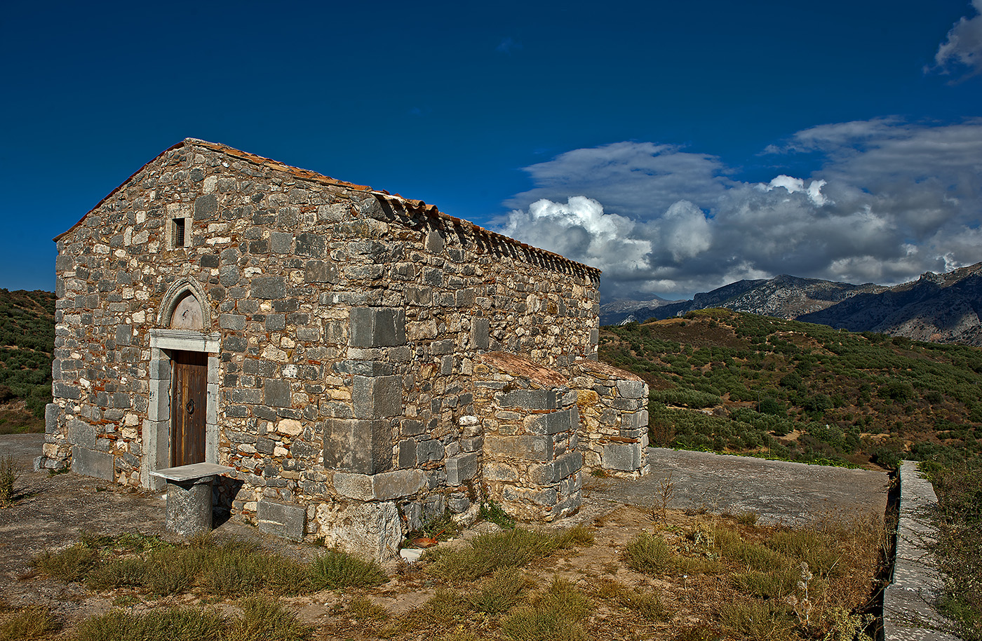 Mountain top church Crete, Greece