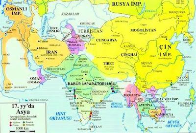 Babürler devleti haritasi