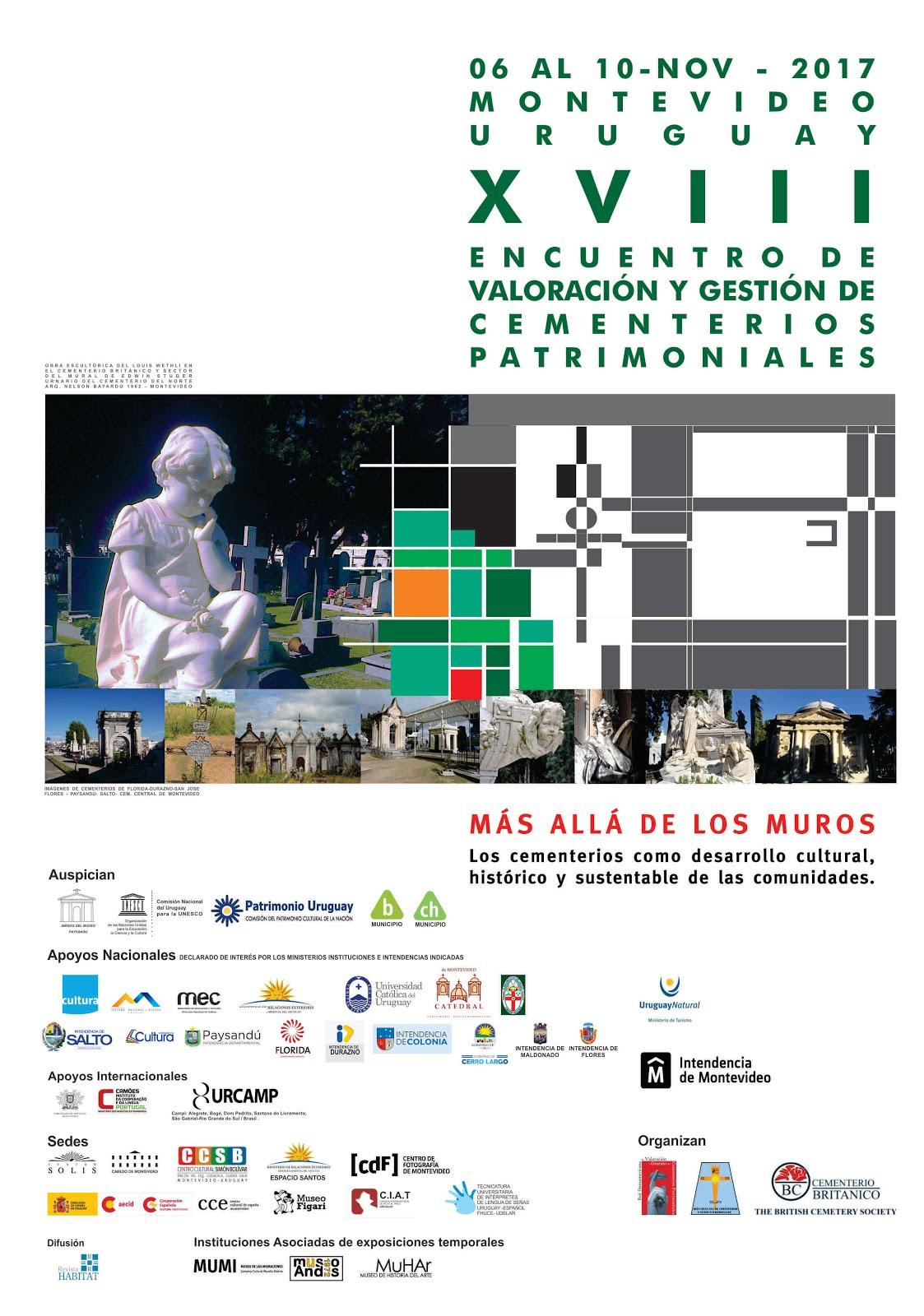 Convocatoria oficial XVIII Encuentro Iberoamericano de Cementerios Patrimoniales