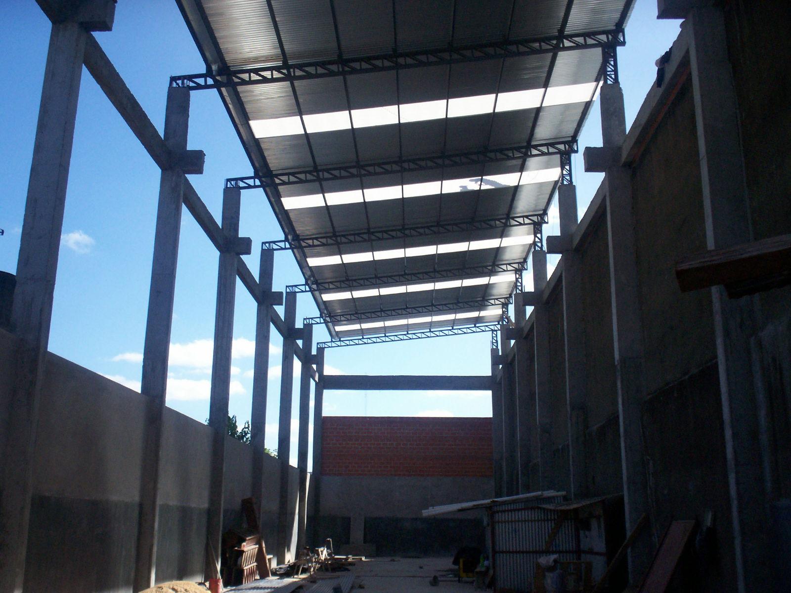 Estructuras metalicas tinglados ob estructura metalica de for Como hacer una estructura metalica para techo