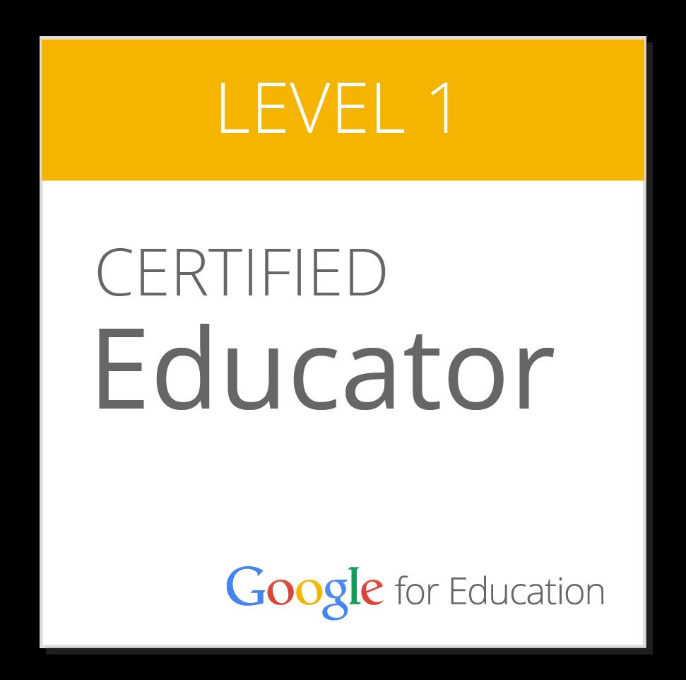 Certified Google Educator Level 1