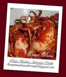 Resep dan Cara Membuat Masakan Cumi Pedas