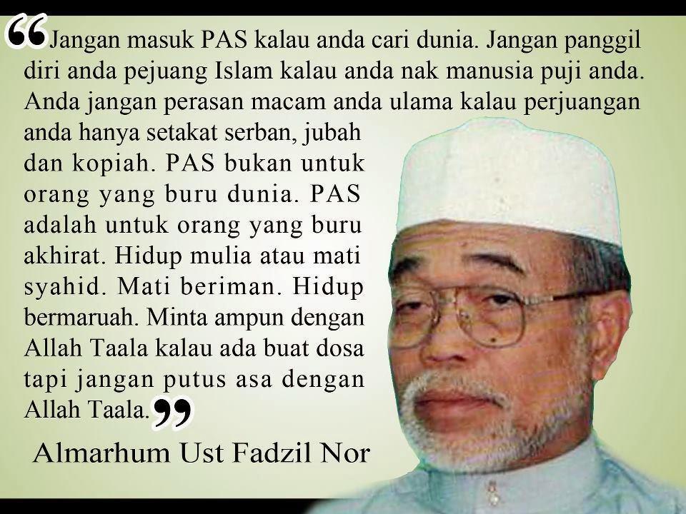 fadzil noor Memperingati Almarhum Ustaz Fadzil Noor