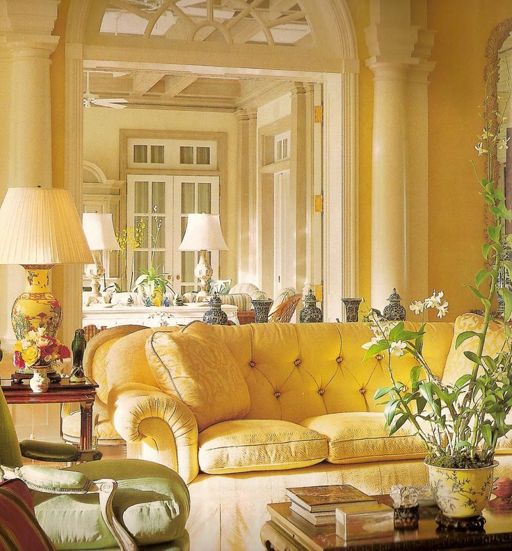 Eye for design how to create beautiful yellow rooms for Yellow living room ideas