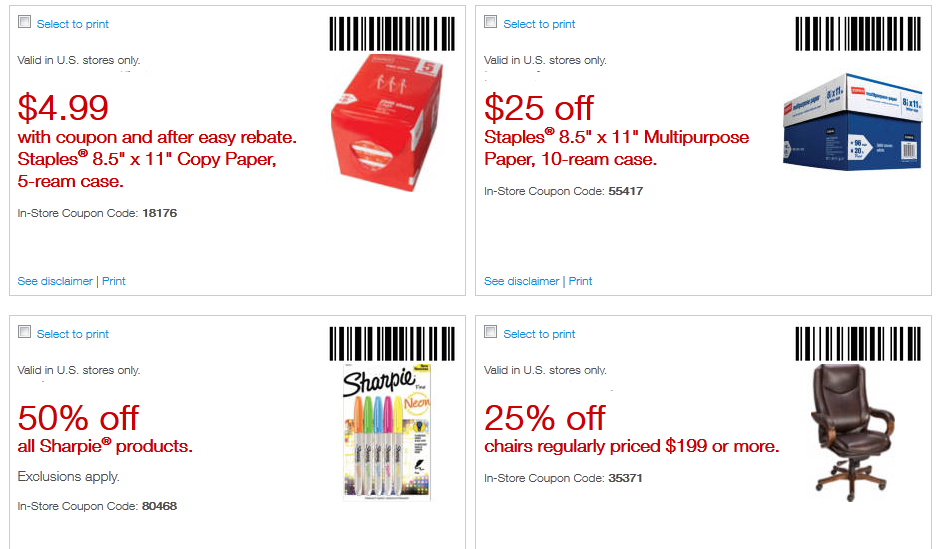 Staples Printable Coupons September 2015