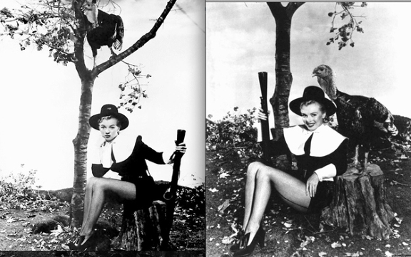 Get Her Thanksgiving On Back In 1950 Clad A Pilgrim Outfit With Shotgun Tow The Turkey Probably Wasnt Too Happy To Be Posing Blonde