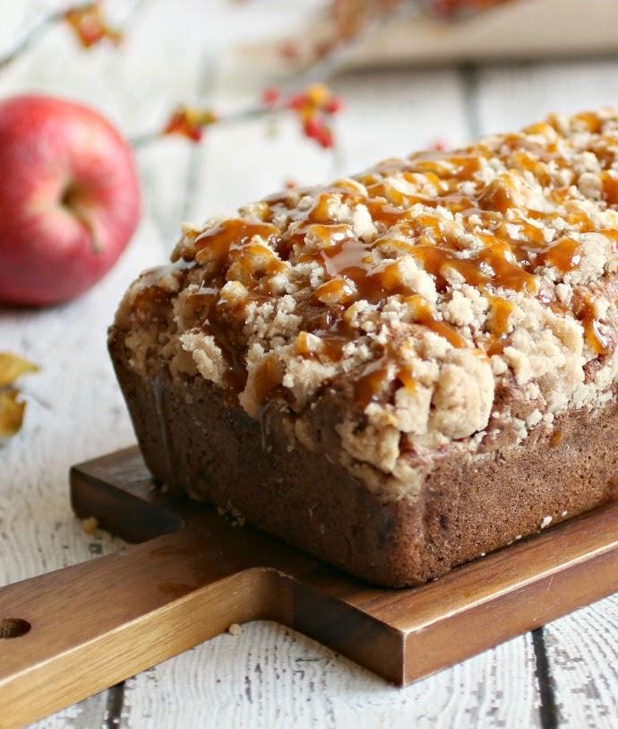 Apple Pie Crumb Bread with Cinnamon Caramel