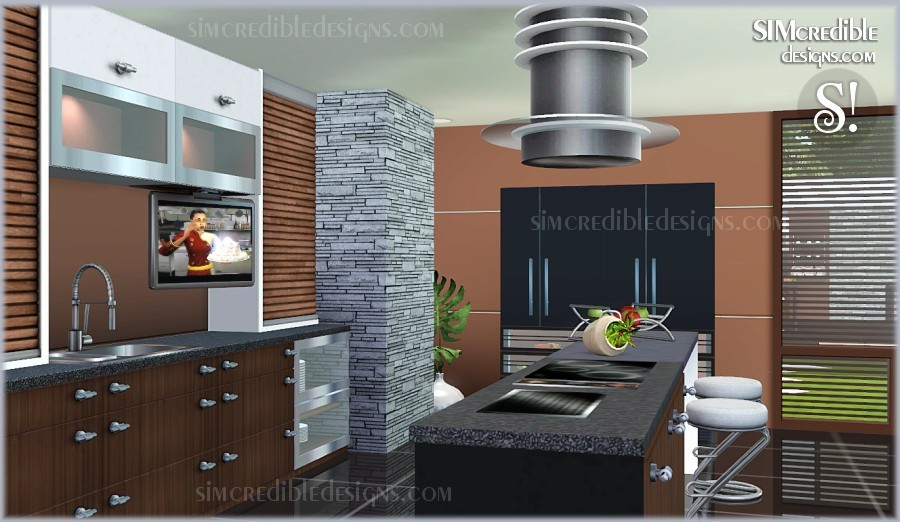 My sims 3 blog concordia kitchen set by simcredible designs for Sims 3 kitchen designs