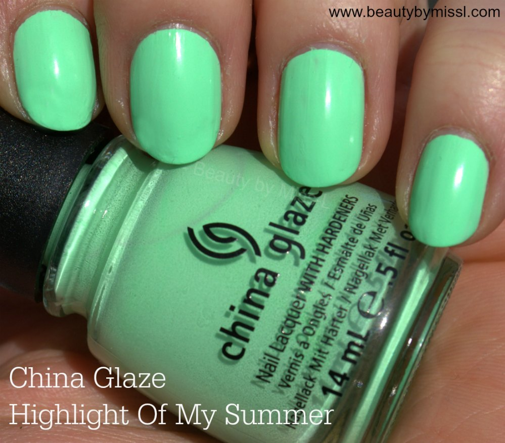 China Glaze Highlight Of My Summer swatches