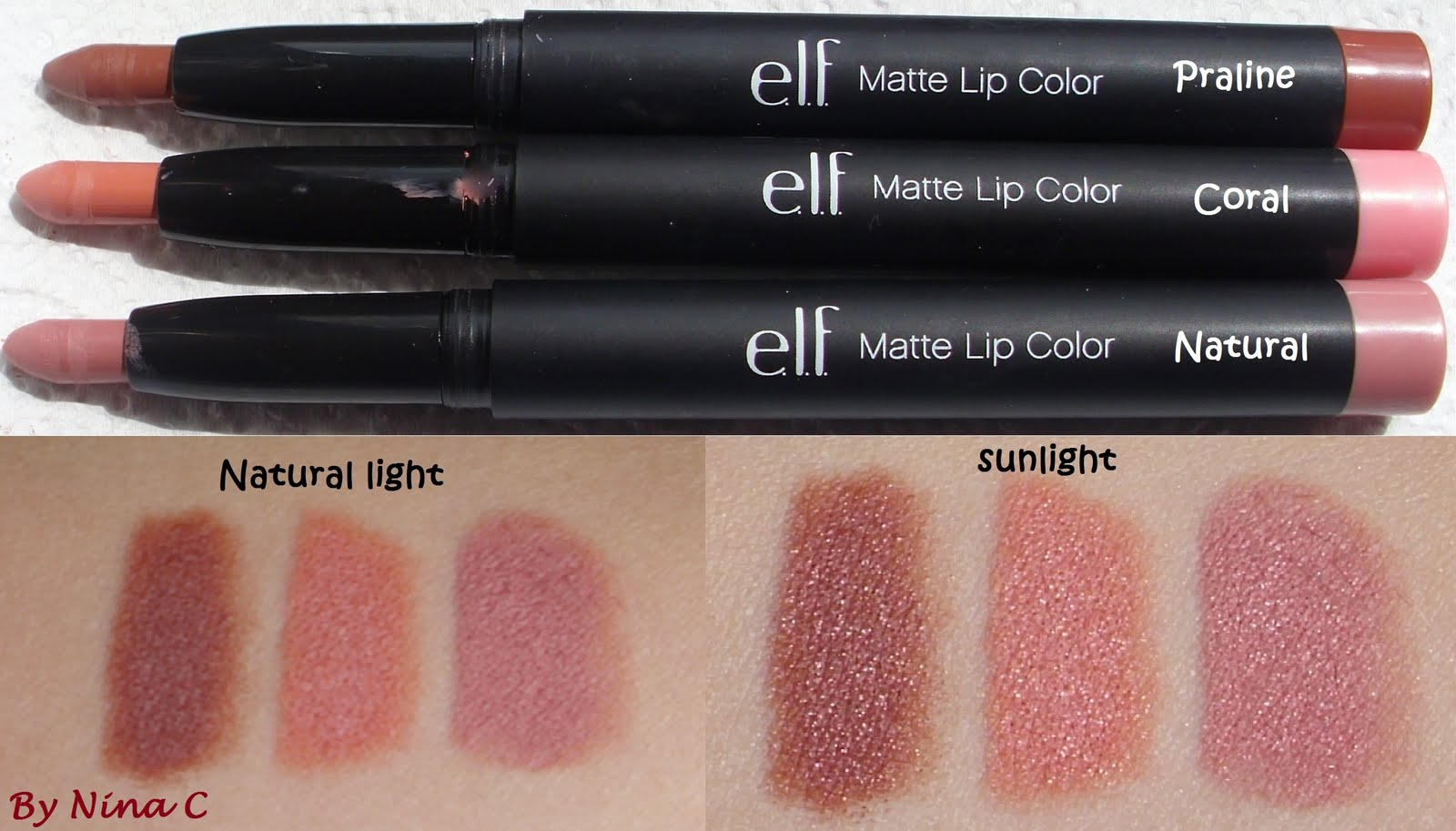 Nina's Bargain Beauty*: e.l.f Matte Lip Color review
