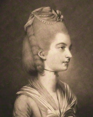 Frances, Countess of Jersey,  by Thomas Watson after Daniel Gardner,  mezzotint pub 1774 © National Portrait Gallery, London