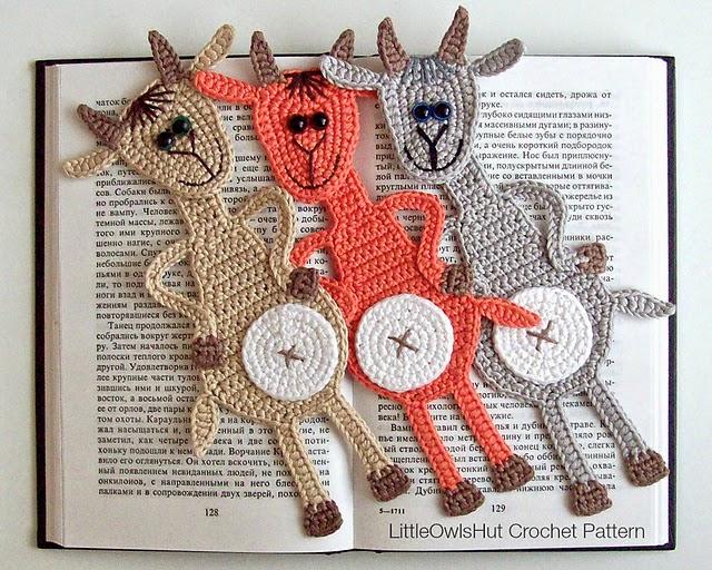 marque-page-crochet-chèvre