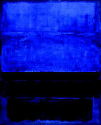 Mark Rothko block colour art. Deep blue and black.