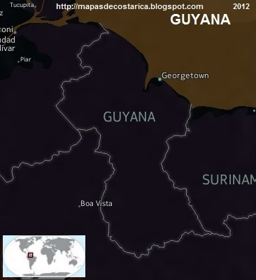 Mapa de GUYANA, Nokia