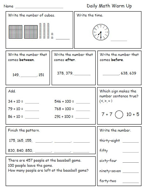 Printables 3rd Grade Math Review Worksheets 3rd grade math review scalien scalien