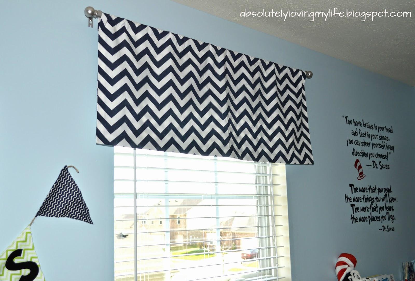 Loving Life: DIY No-Sew Chevron Curtains