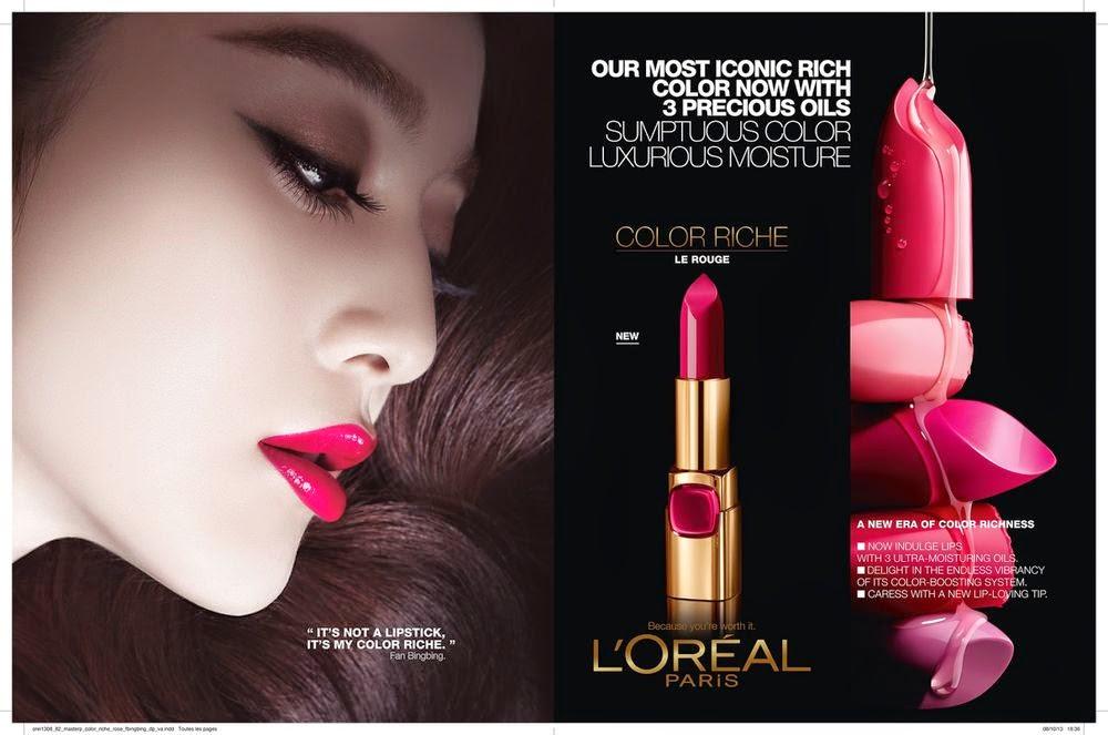 Fan Bingbing stars for the L'Oreal Color Riche Campaign 2014