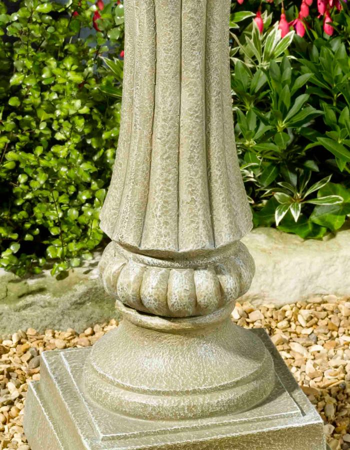 Jard n solar fuente solar de piedra artificial winchester - Fuentes solares para jardin ...