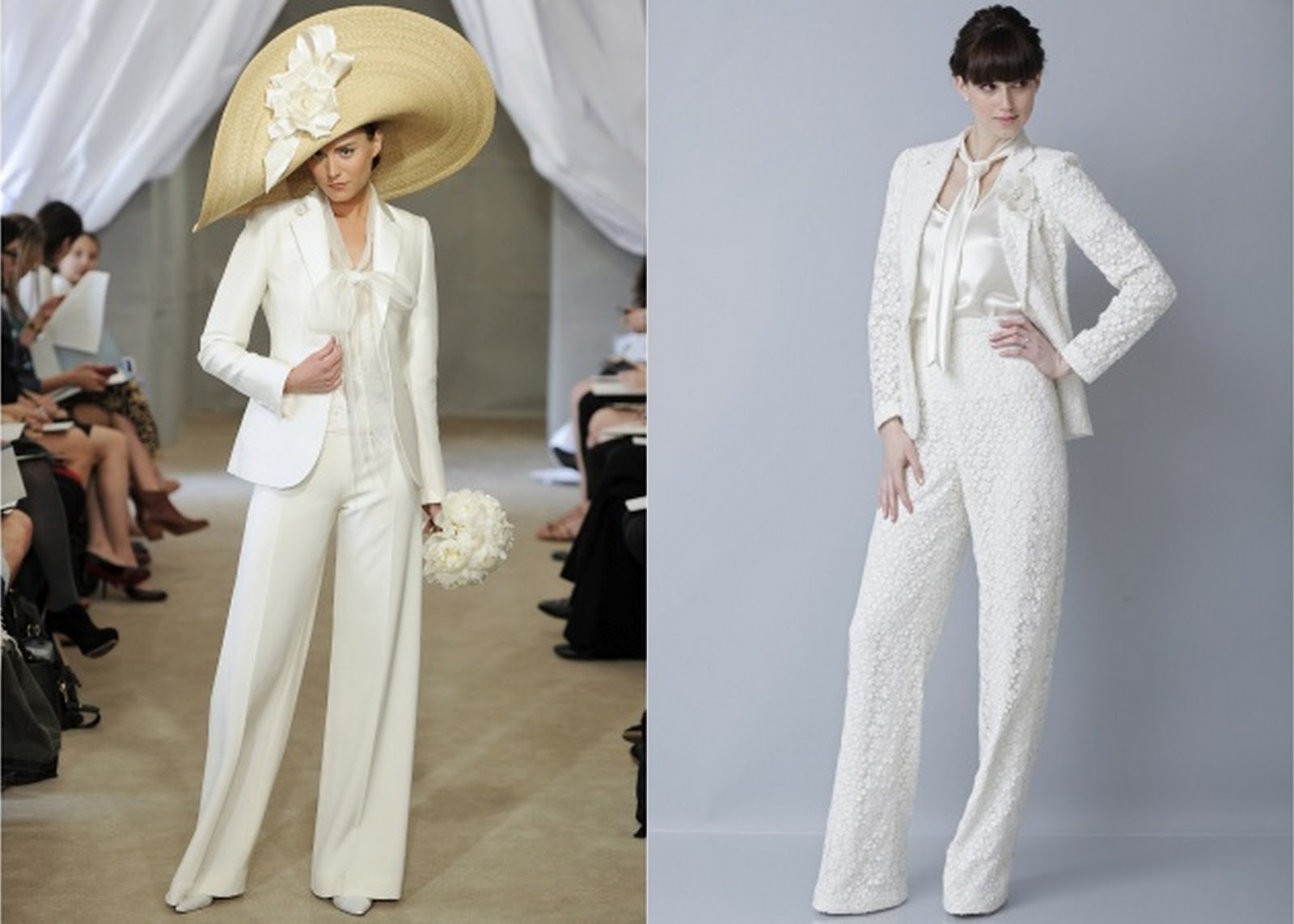 De lovely affair top 10 wedding dress trends for 2013 for Wedding dress pant suits
