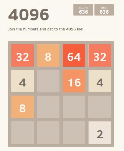 Game 4096, chơi game 4096 online trên web