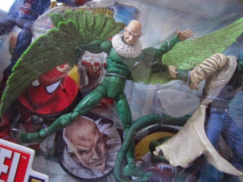 Marvel Legends Toybiz Fearsome Foes Box Set Spider-man McFarlaine Sinister Six Rhino Carnage Venom Symbiote Vulture Lizard Peter Parker Electro Amazing movie comic Norman Osborne OsCorp Dr Ock