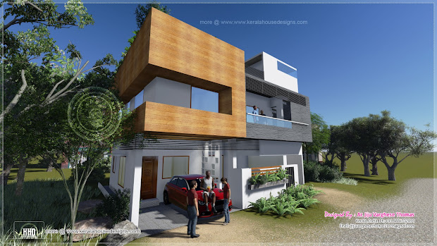 1600 Square Feet Contemporary Modern House
