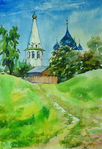 Нарисовать храм акварелью 198