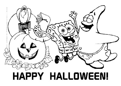 Halloween colorings for Spookley coloring pages
