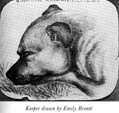 Dibujo que Emily Brontë hizo de su perro, Keeper
