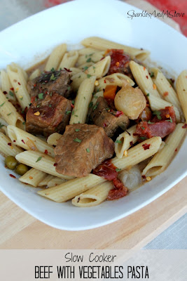 Sparkles & a Stove: Beef with Vegetables Pasta