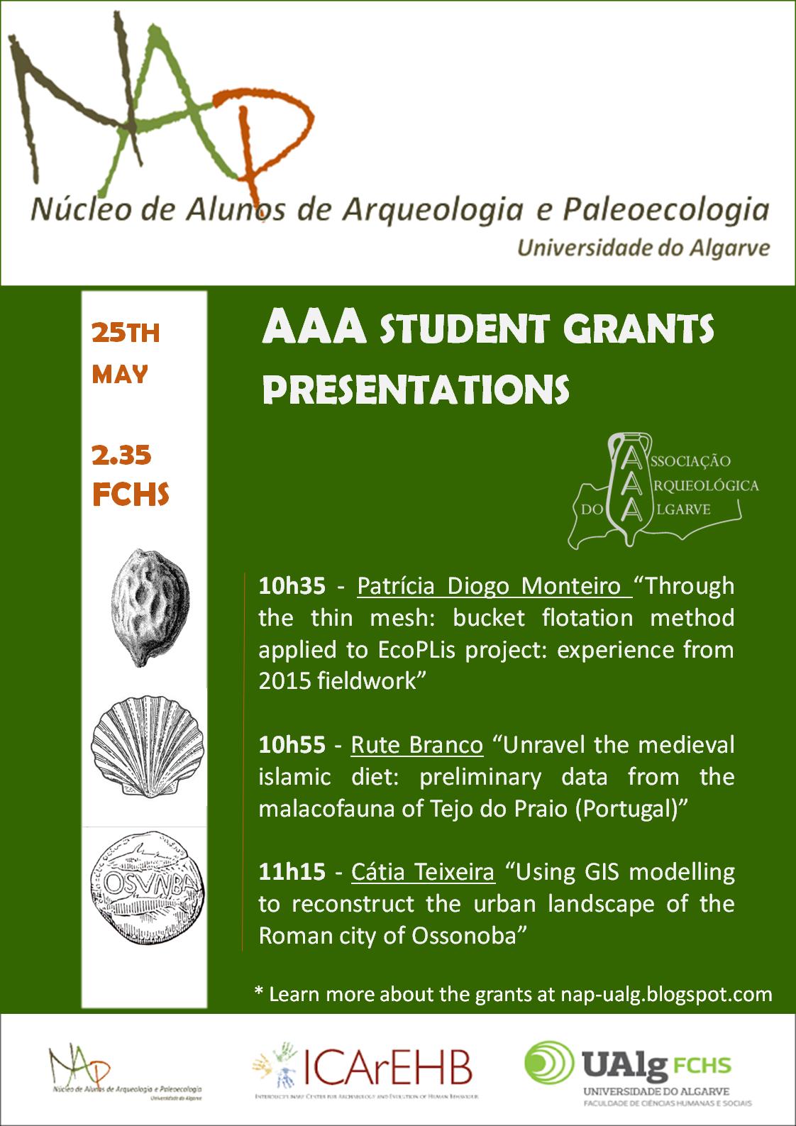 AAA student grants presentations