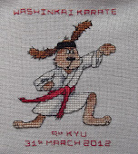 Karate Dog mum Stitched for me