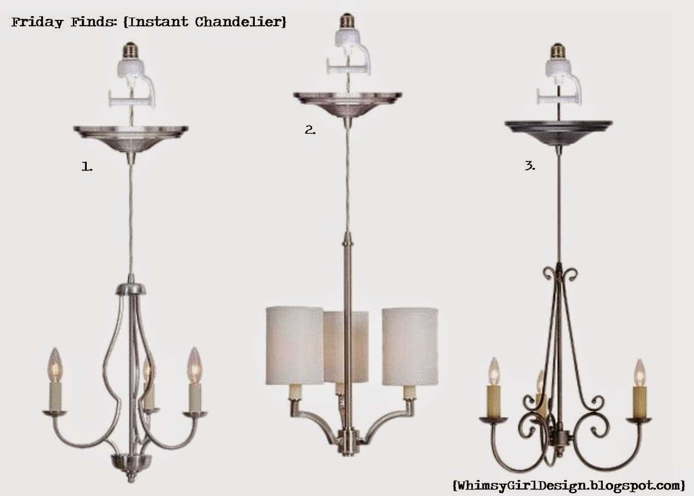 Whimsy girl friday finds recessed lighting conversion pendants - Can light chandelier ...