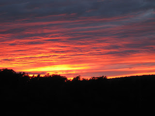 Sunset in shades of yellow, orange, pink, and purple, Santa Cruz, California