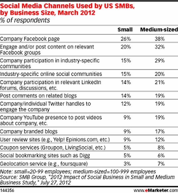 """20% din firmele mici si 19% din cele mijlocii au raportat ca au folosit sau folosesc retelele sociale intr-o maniera """"ad-hoc, informala"""""""