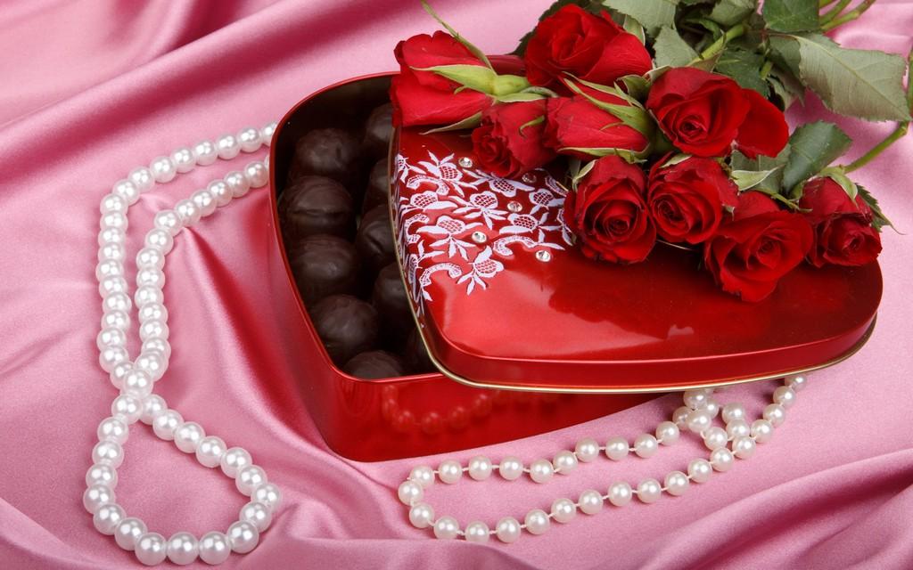 Букет цветов и конфеты картинки 3