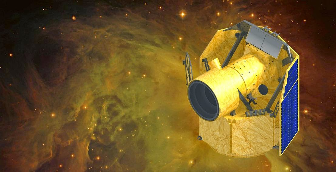 Artist's rendering of ESA CHEOPS satellite. Credit: ESA/CSH/UniBE
