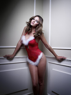 Alyssa Miller for Manor Christmas Lingerie