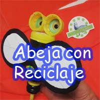 http://comohacermaquetas.blogspot.com/2015/07/abeja-para-nino-con-reciclaje.html