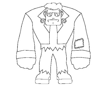 #5 Frankensteins Coloring Page