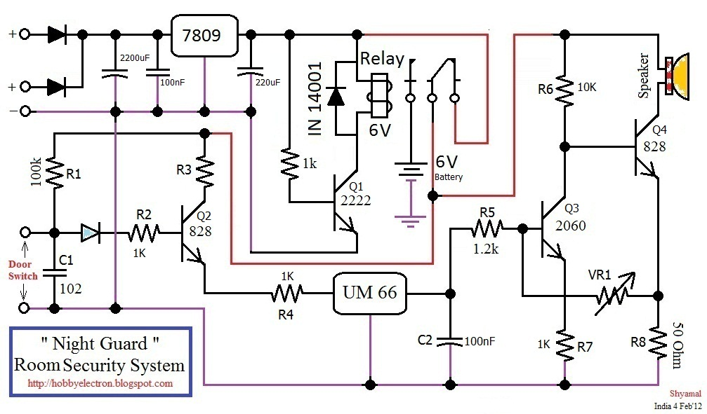 complete room securty system circuit diagram wiring diagram circuit