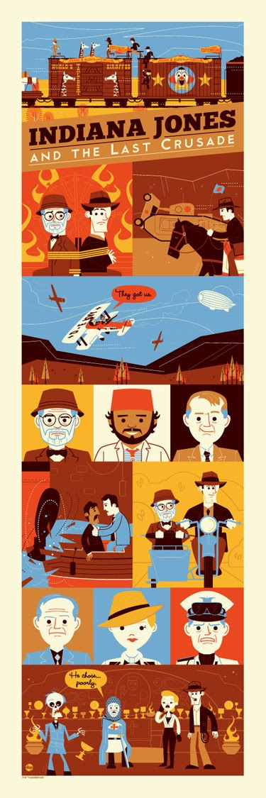 """Crusade: 1989"" Indiana Jones and the Last Crusade Screen Print by Dave Perillo"
