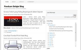 panduan belajar blog