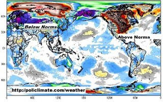 Northern Hemisphere Global Warming and Cooling, actually weather anomalies for February 2012
