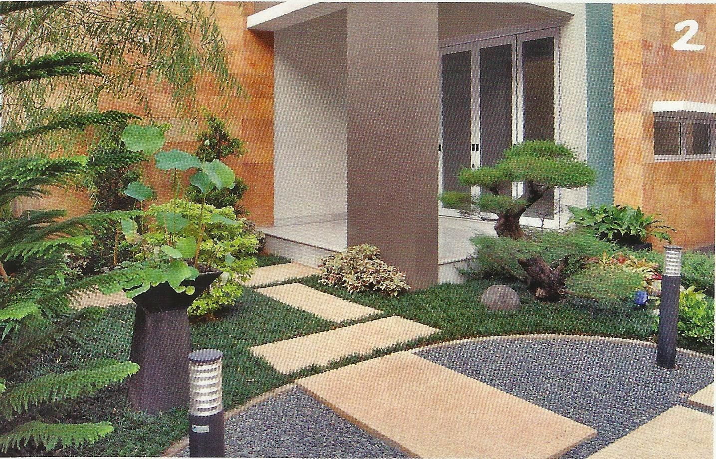 5 desain taman kecil depan rumah minimalis desain taman